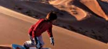 A faire : Le sandboard en Namibie